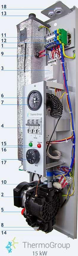<small>Caldaia elettrica</small> 15 kW