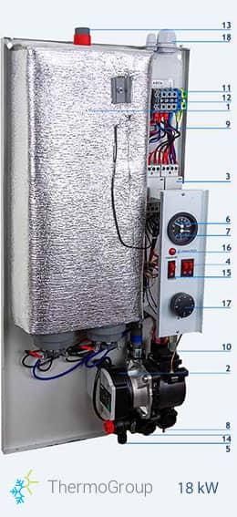 <small>Caldaia elettrica</small> 18 kW